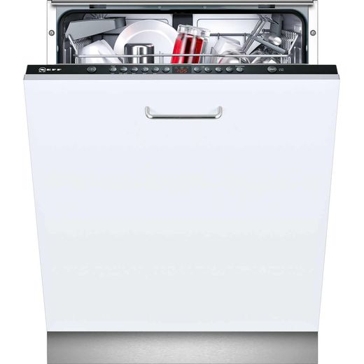 NEFF N50 S513G60X0G Fully Integrated Standard Dishwasher - Black Control Panel with Fixed Door Fixing Kit - E Rated
