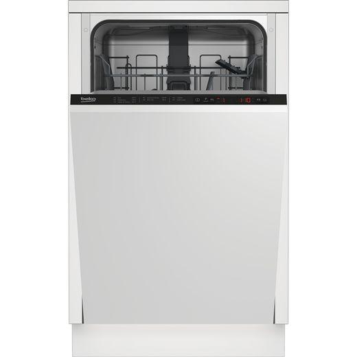 Beko DIS15022 Built In Slimline Dishwasher - Black