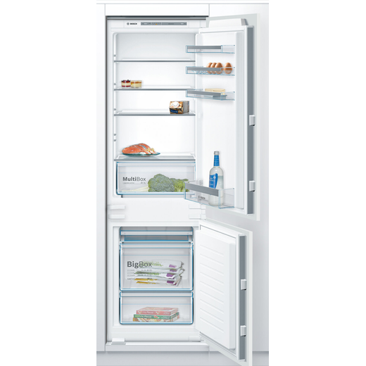 Bosch Serie 4 KIV86VSF0G Integrated 60/40 Fridge Freezer with Sliding Door Fixing Kit - White - F Rated