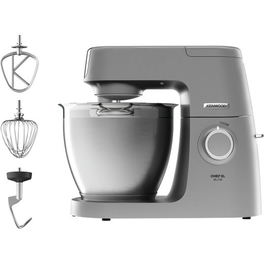 Kenwood Chef Elite XL KVL6100S Stand Mixer with 6.7 Litre Bowl - Silver
