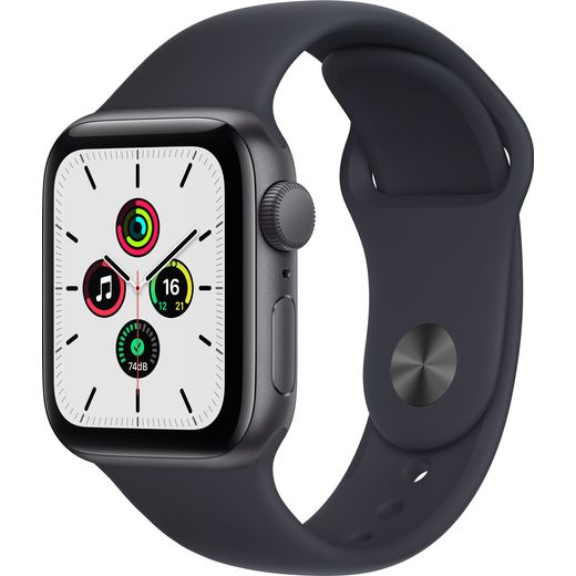 Apple Watch SE, 40mm, GPS [2021] - Space Grey Aluminium Case with Midnight Sport Band