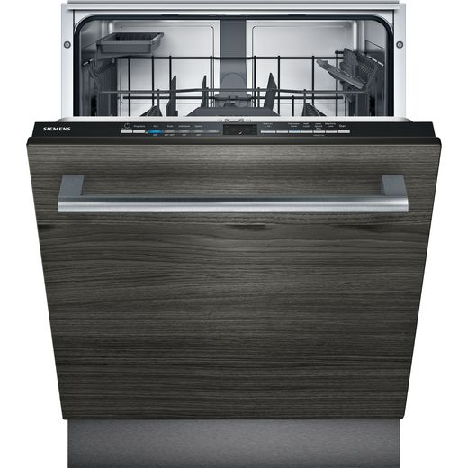 Siemens IQ-100 SE61HX02AG Fully Integrated Standard Dishwasher - Black Control Panel - D Rated