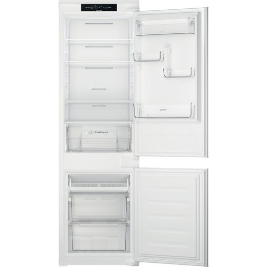 Indesit INC18T311 Integrated Frost Free Fridge Freezer with Sliding Door Fixing Kit - White - F Rated