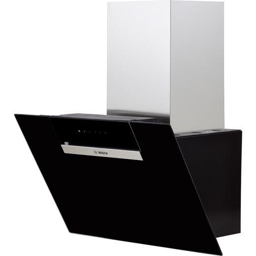 Bosch Serie 2 DWK67EM60B 60 cm Angled Chimney Cooker Hood - Black - B Rated
