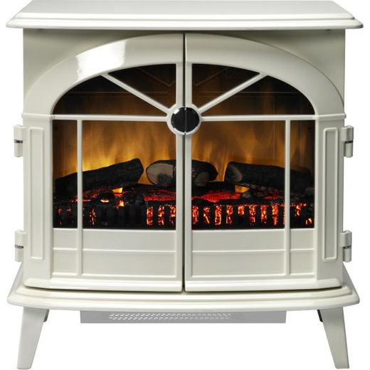 Dimplex Chevalier CHV20N Log Effect / Coal Bed Electric Stove With Remote Control - Cream
