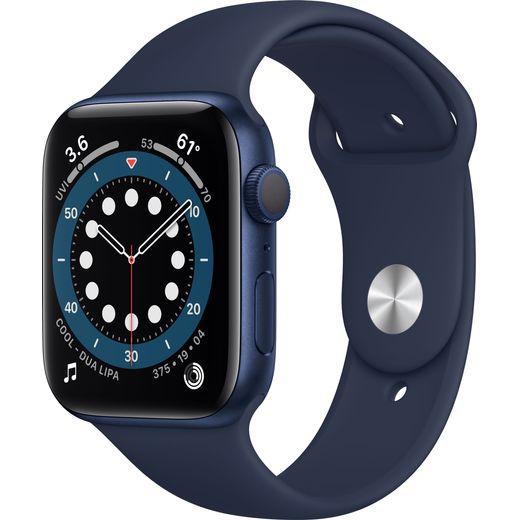 Apple Watch Series 6, 44mm, GPS [2020] - Blue Aluminium Case with Deep Navy Sport Band
