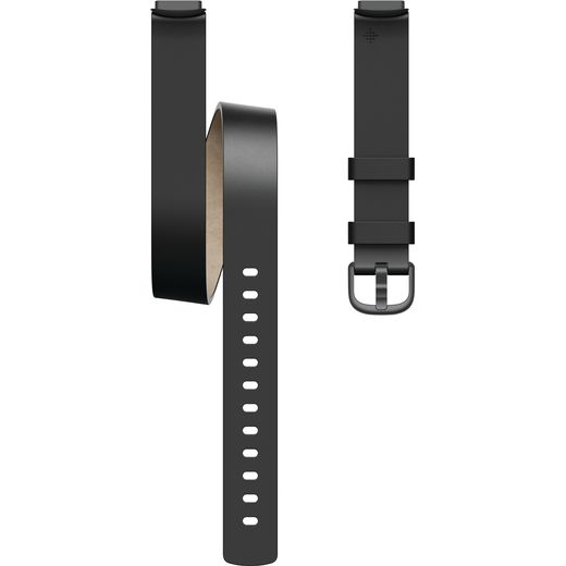 Fitbit Leather Double Wrap for Fitbit Luxe - One Size - Black