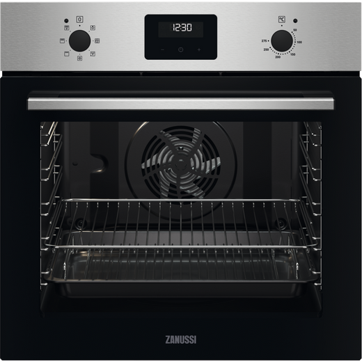 Zanussi ZOHNX3X1 Built In Electric Single Oven - Stainless Steel - A Rated