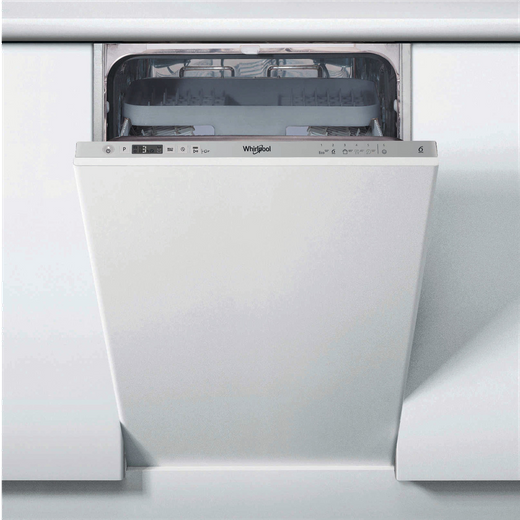Whirlpool WSIC3M27CUKN Fully Integrated Slimline Dishwasher - Stainless Steel Control Panel - E Rated