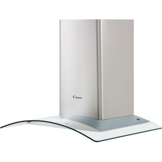 Candy CGM64/1X 60 cm Chimney Cooker Hood - Stainless Steel / Glass - C Rated