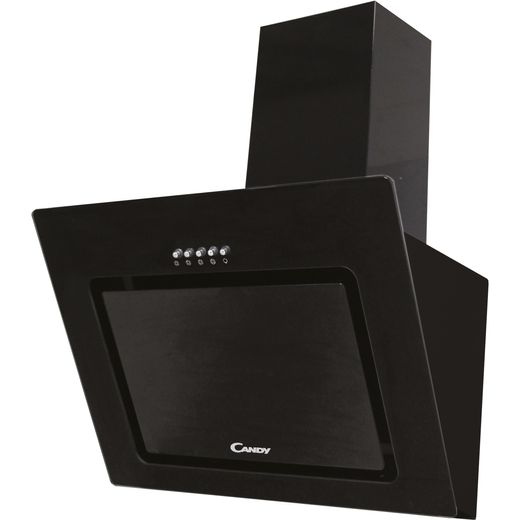 Candy CVMAD60/1N 60 cm Angled Chimney Cooker Hood - Black - C Rated