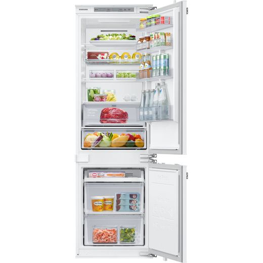 Samsung BRB26615FWW Integrated 70/30 Frost Free Fridge Freezer with Fixed Door Fixing Kit - White - F Rated