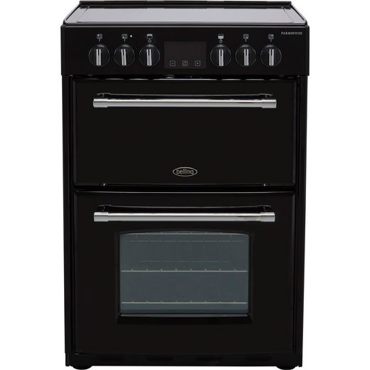 Belling Farmhouse60E Electric Cooker - Black - Needs 10.6KW Electrical Connection