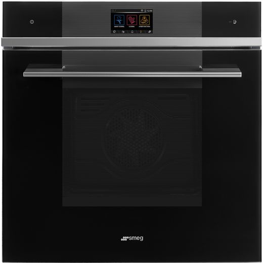 Smeg Linea SFP6104WTPN Wifi Connected Built In Electric Single Oven - Black - A+ Rated