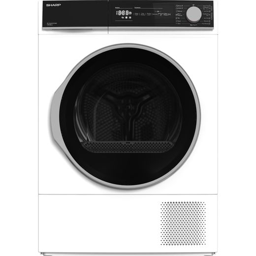 Sharp KD-NHH0S7GW2-EN 10Kg Heat Pump Tumble Dryer - White - A++ Rated