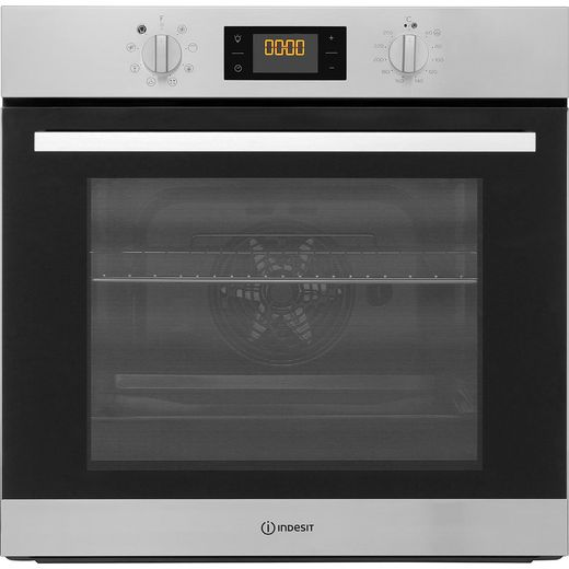 Indesit Aria IFW6340IX Built In Electric Single Oven - Stainless Steel - A Rated