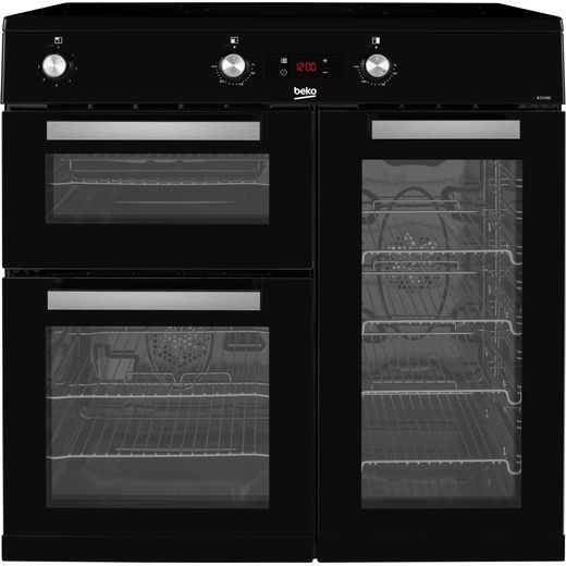 Beko KDVI90K 90cm Electric Range Cooker with Induction Hob - Black - A/A Rated