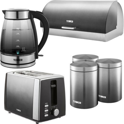 Tower Infinity Ombre AOBUNDLE030 Kettle And Toaster Set - Grey