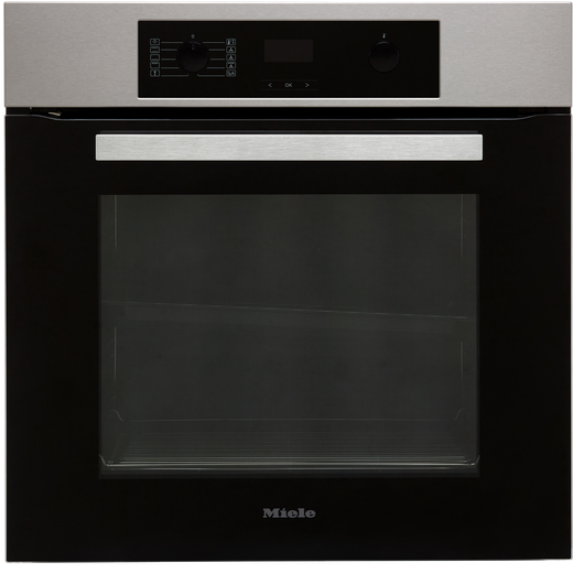 Miele H2265-1B Built In Electric Single Oven - Clean Steel