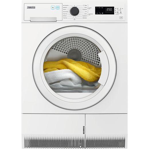 Zanussi ZDC82B4PW 8Kg Condenser Tumble Dryer - White - B Rated