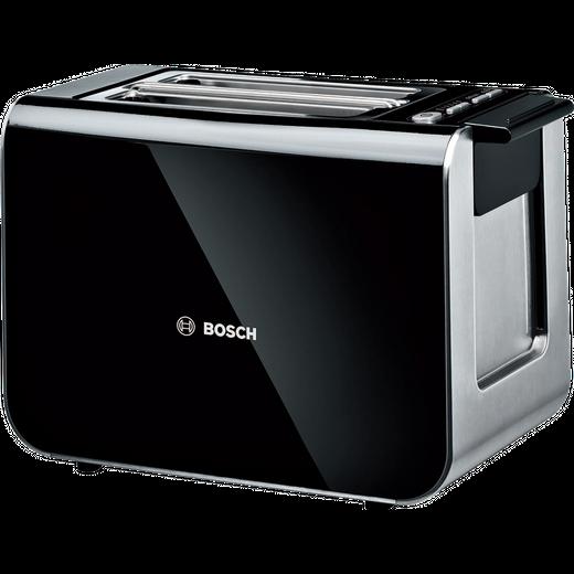 Bosch Styline TAT8613GB 2 Slice Toaster - Black / Stainless Steel