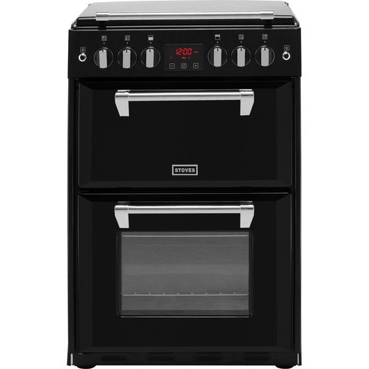 Stoves Richmond600G 60cm Gas Cooker with Full Width Electric Grill - Black - A+/A Rated