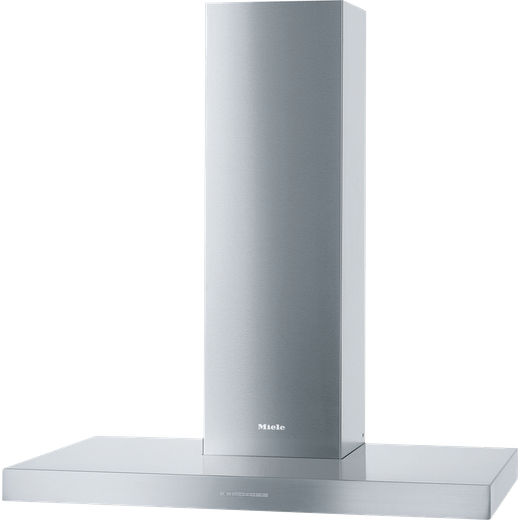 Miele DAPUR98W 90 cm Chimney Cooker Hood - Clean Steel - A Rated