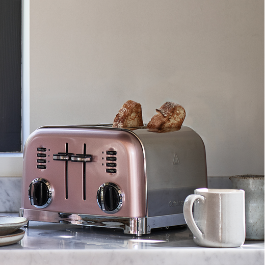 Cuisinart Style Collection CPT180PU 4 Slice Toaster - Rose Tint