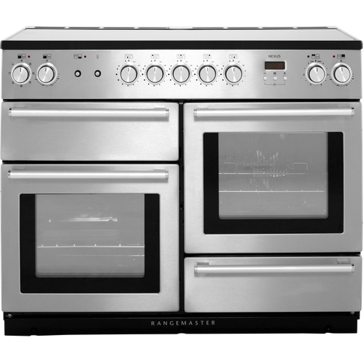 Rangemaster Nexus NEX110EISS/C 110cm Electric Range Cooker with Induction Hob - Stainless Steel / Chrome - A/A Rated