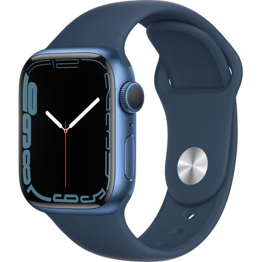 Apple Watch Series 7, 41mm, GPS [2021] - Blue Aluminium Case with Abyss Blue Sport Band