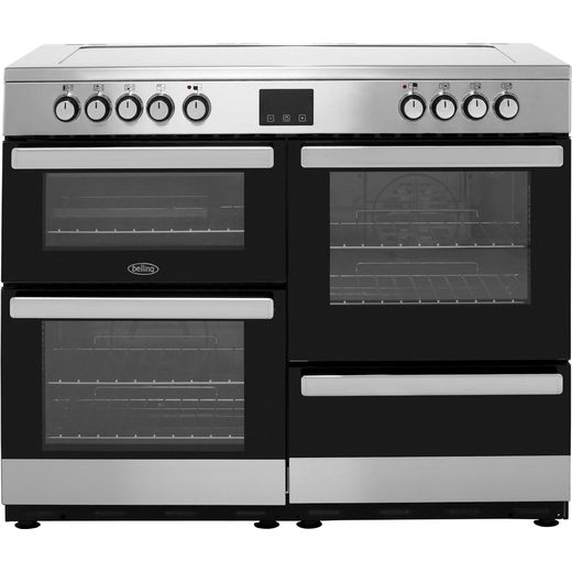 Belling Cookcentre110E 110cm Electric Range Cooker with Ceramic Hob - Stainless Steel - A/A Rated