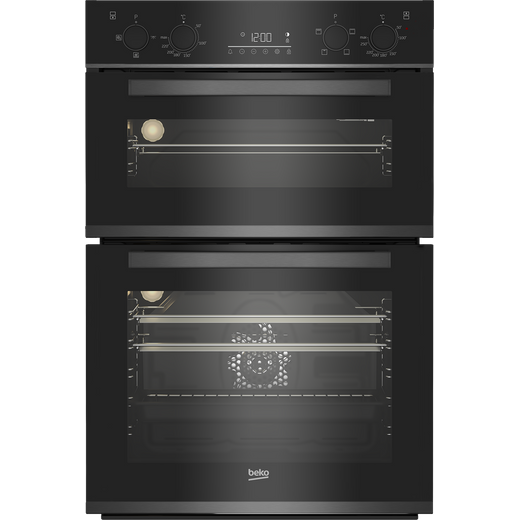 Beko BBXDF29300Z Built In Electric Double Oven - Dark Steel - A/A Rated