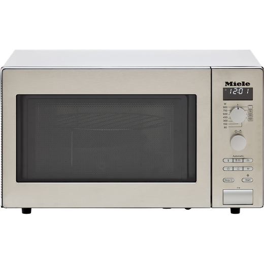 Miele M6012 26 Litre Microwave With Grill - Clean Steel