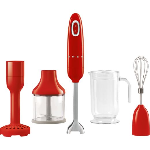 Smeg 50's Retro HBF02RDUK Hand Blender with 4 Accessories - Red