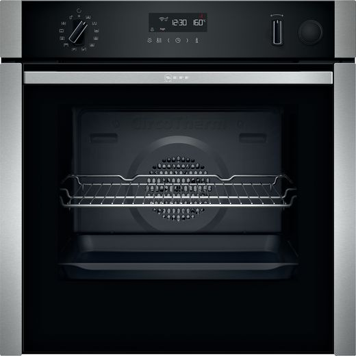 NEFF N50 Slide&Hide® B5AVM7HH0B Built In Electric Single Oven with added Steam Function - Stainless Steel - A Rated