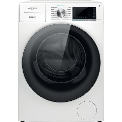 Whirlpool W8W046WRUK 10Kg Washing Machine with 1400 rpm - White - A Rated