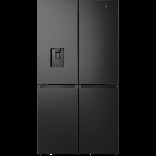 Hisense RQ758N4SWF1 American Fridge Freezer - Black / Stainless Steel - F Rated