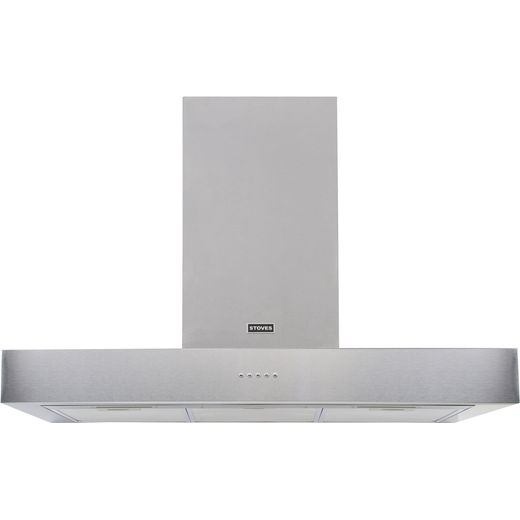 Stoves Sterling ST S1000 STER FLAT STA 100 cm Chimney Cooker Hood - Stainless Steel - A Rated