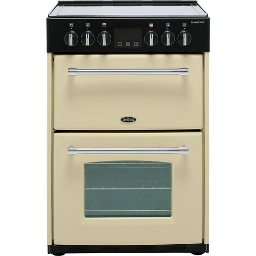 Belling Farmhouse60E 60cm Electric Cooker with Ceramic Hob - Cream - A/A Rated