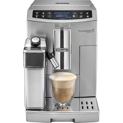 De'Longhi PrimaDonna Evo ECAM510.55.M Wifi Connected Bean to Cup Coffee Machine - Stainless Steel
