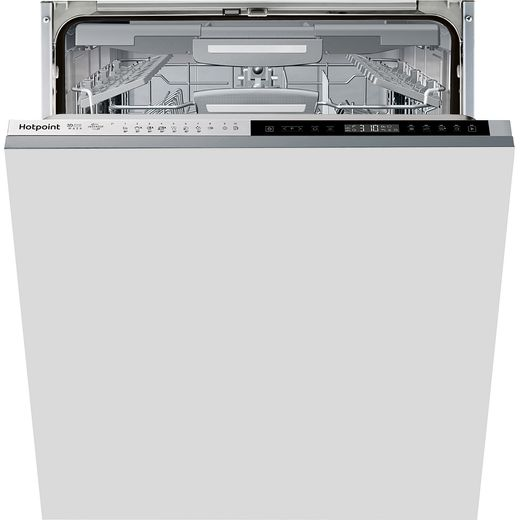 Hotpoint HIP4O539WLEGTUK Fully Integrated Standard Dishwasher - Stainless Steel Effect Control Panel with Fixed Door Fixing Kit - B Rated