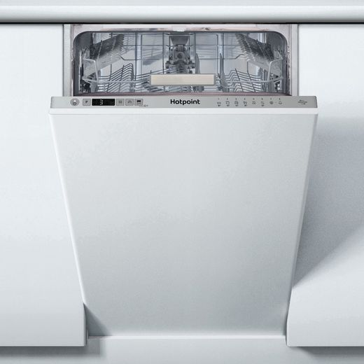 Hotpoint HSIC3T127UKN Fully Integrated Slimline Dishwasher - Silver Control Panel with Fixed Door Fixing Kit - E Rated