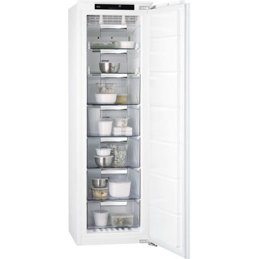 AEG ABB818F6NC Integrated Frost Free Upright Freezer with Fixed Door Fixing Kit - F Rated
