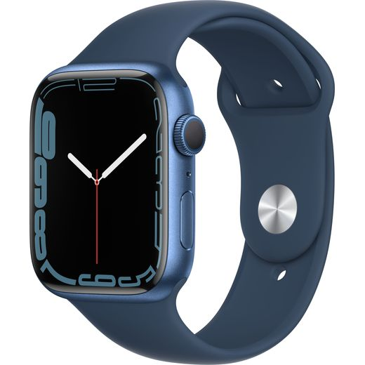 Apple Watch Series 7, 45mm, GPS [2021] - Blue Aluminium Case with Abyss Blue Sport Band