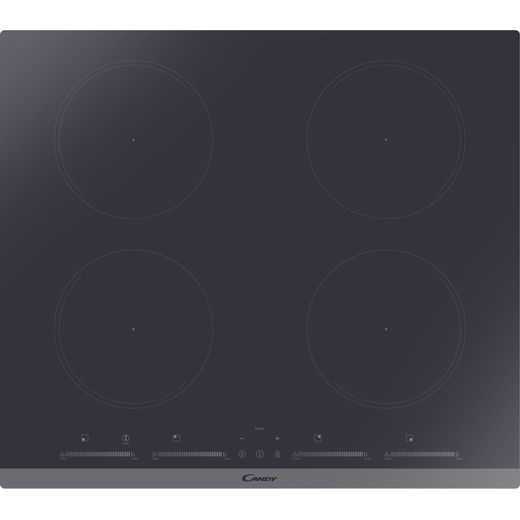 Candy CIES642MCTT 59cm Induction Hob - Black / Stainless Steel