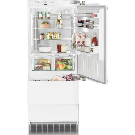Liebherr ECBN5066 Integrated 60/40 Frost Free Fridge Freezer with Fixed Door Fixing Kit - Stainless Steel - F Rated