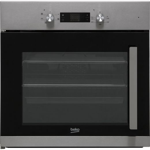 Beko BIF22300XL Built In Electric Single Oven with added Steam Function - Stainless Steel - A Rated
