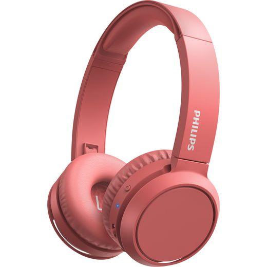 Philips On-Ear Wireless Bluetooth Headphones - Red