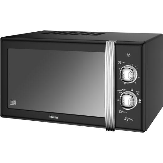 Swan Retro Manual SM22130BN Microwave - Black
