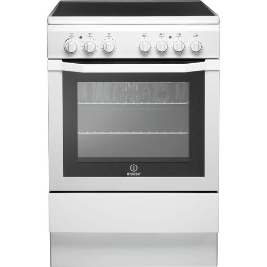 Indesit I6VV2AW Electric Cooker with Ceramic Hob - White - A Rated
